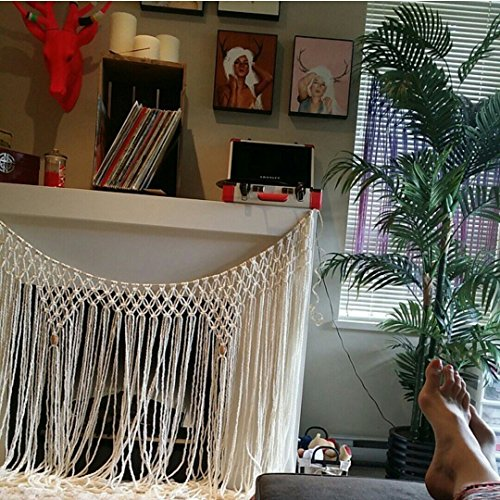 60 inch Handmade Macrame Hanging for Windows, Walls, Headboard, Fireplace, Dorm Room by The House Phoenix