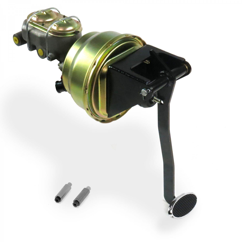 "Helix 321176 Universal FW 7/"" Dual Brake Pedal kit Drum~Sm Oval Chr Pad"