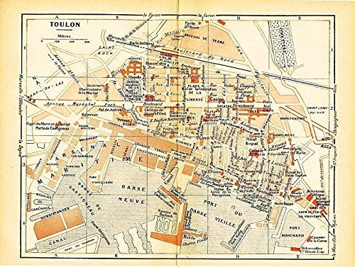 Amazoncom Toulon France 1943 World War II lithograph city street