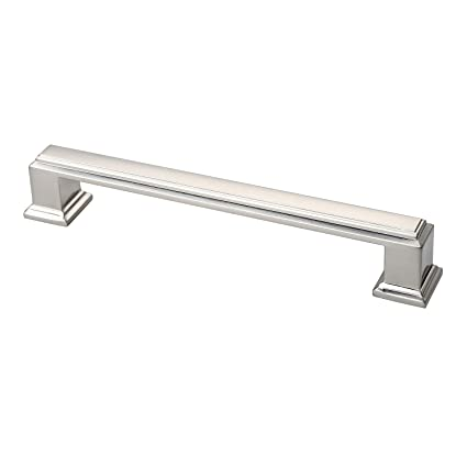 Alzassbg Al3071sn Brushed Satin Nickel 5 Inch 128mm Hole Centers Cabinet Hardware Modern Drawer Handle Pulls 10 Pack