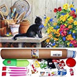 "KOTART 5D Diamond Painting Kit for Adults – 16x20"" Full Drill DIY Arts & Crafts Cute Cat Bling Artwork Decor Gift Set with Crystal Rhinestone Gems, Tools & Supplies, Fun Creative Relaxation Activity"