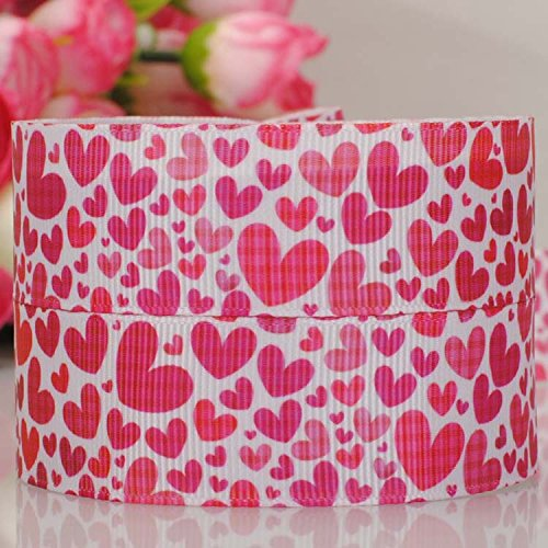 10yards-7-822mm-pink-peach-heart-for-valetines-day-grosgrain-ribbon