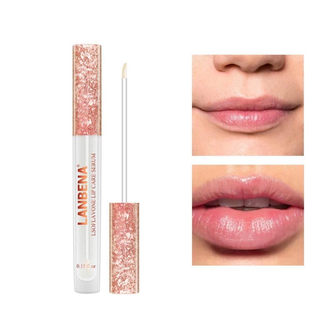 All-Natural Lip Plumper Gloss –Diadia LANBENA Lips Booster Hydrating, Anti Aging Lip Plumping Lip Gloss Cosmetics Sexy Plumper Lips,Waterproof & Long-Lasting for Party,Wedding,Dating,Club