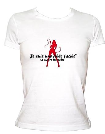 nouveau style dac29 e7230 Boutique KKO T-Shirt Humoristique Fille Facile À Mettre en ...