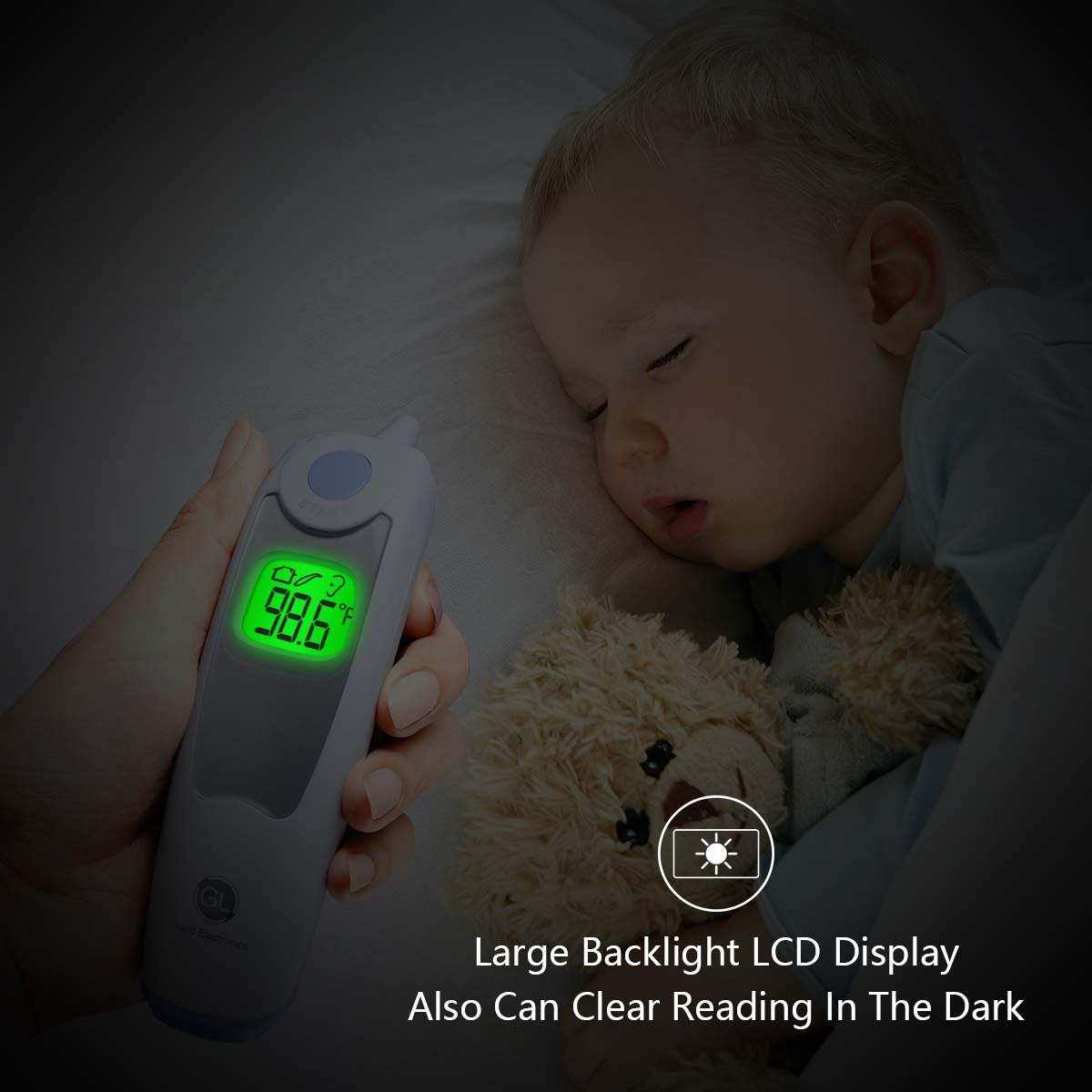 Baby Ear Thermometer for Fever Gland Medical Digital Ear Thermometer for Baby, Infants,Toddlers, and Adults FDA Approved by GL Gland Electronics (Image #5)
