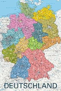 Bundesländer Karte Mit Plz.Bundesländer Karte Mit Postleitzahlen Deutschland Xl Pinn Version