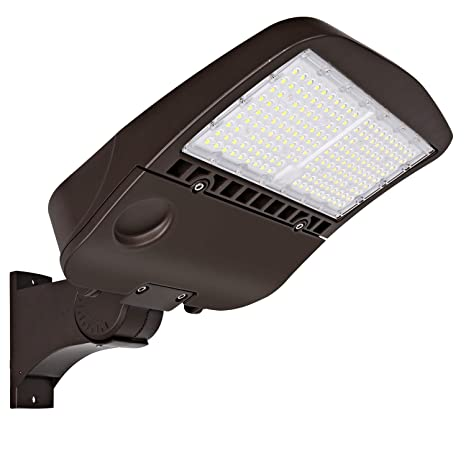 150W LED Parking Lot Light Outdoor Lighting Fixture Slip Fitter-Arm-Trunnion DLC