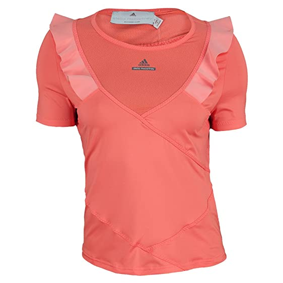 Adidas Stella McCartney Women's Barricade Tee Shirt Small Pink