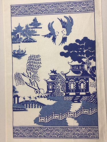 2 Blue Willow Kitchen Dish Towels By Finds and Furnishings