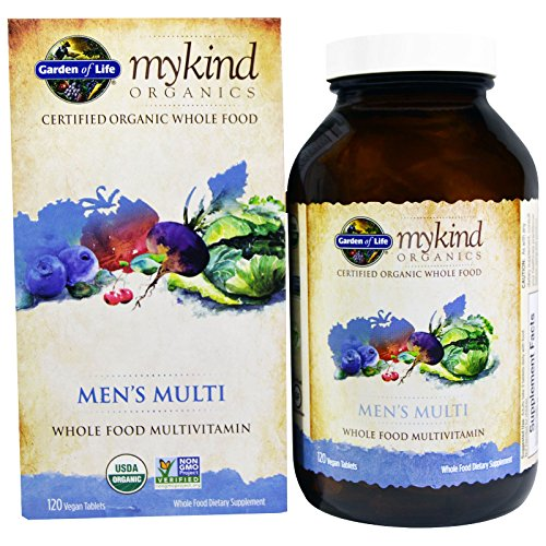 Garden of Life, MyKind Organics, Men's Multi, Whole Food Multivitamin, 120 Vegan Tablets ()