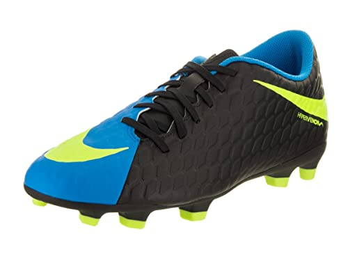 316fc5ab113e Nike Men s Hypervenom Phade III FG Black Volt Photo Blue Soccer Cleat 9. 5  Men US  Buy Online at Low Prices in India - Amazon.in