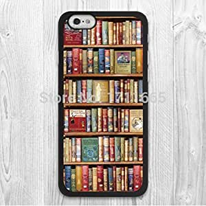 E Shine Bookshelf Book Lover Vintage Phone Case For Samsung Galaxy S2 S3 S4 S5 Mini Note2 3 4 Iphone 4 5S 5C 6 Plus Ipod Touch 4 5 Cases
