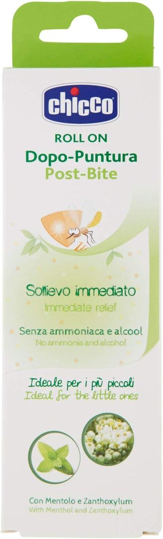 Chicco - Barra de alivio post picaduras mosquito para bebés, sin amoniaco ni alcohol, formula natural