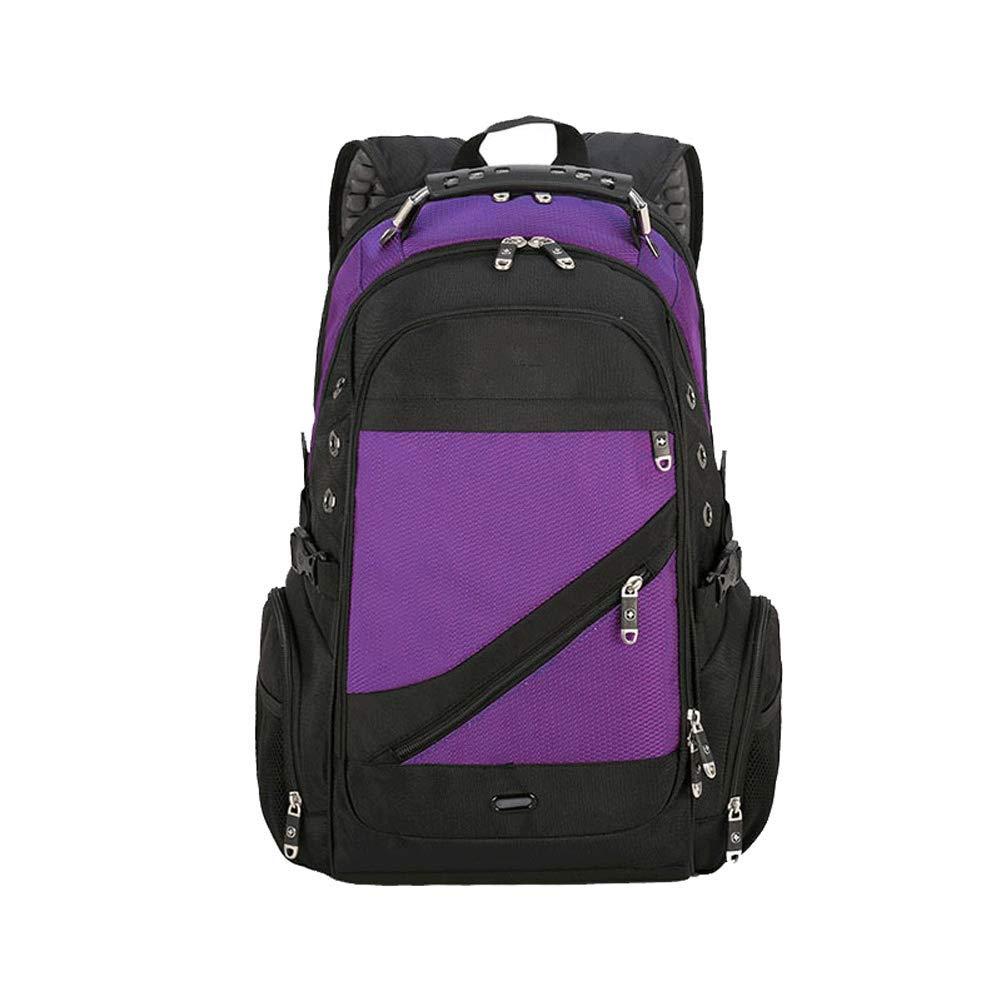 Mochila para excursionismo al aire libre: negocio de la moda, mochila deportiva multifuncional de 17 pulgadas, gran capacidad, impermeable al aire libre, hombres de viaje de nylon y bolsa de hombro pa púrpuraoscuro  B07QHBY638
