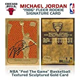 MICHAEL JORDAN 1986 Fleer ROOKIE Feel The Game Signature 23KT Gold Card Sculpted