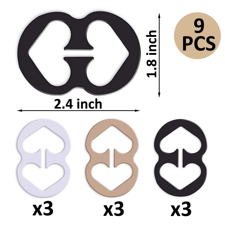 Reggiseno Bra strap clip estensione per reggiseno e strap supporti set/ /Aggiungere Full Cup size