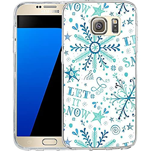 S7 Case Christmas Design Let it snow, LAACO Scratch Resistant TPU Gel Rubber Soft Skin Silicone Protective Case Sales