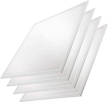 2x2 LED Panel Thin Edge-Lit Flat Light (4 Pack) 5000k 40W, White Frame, Flush Drop Ceiling Light for Home, Office, Schools, Hospitals, Commercial - LED Lighting Fixture - 0-10V Dimmable