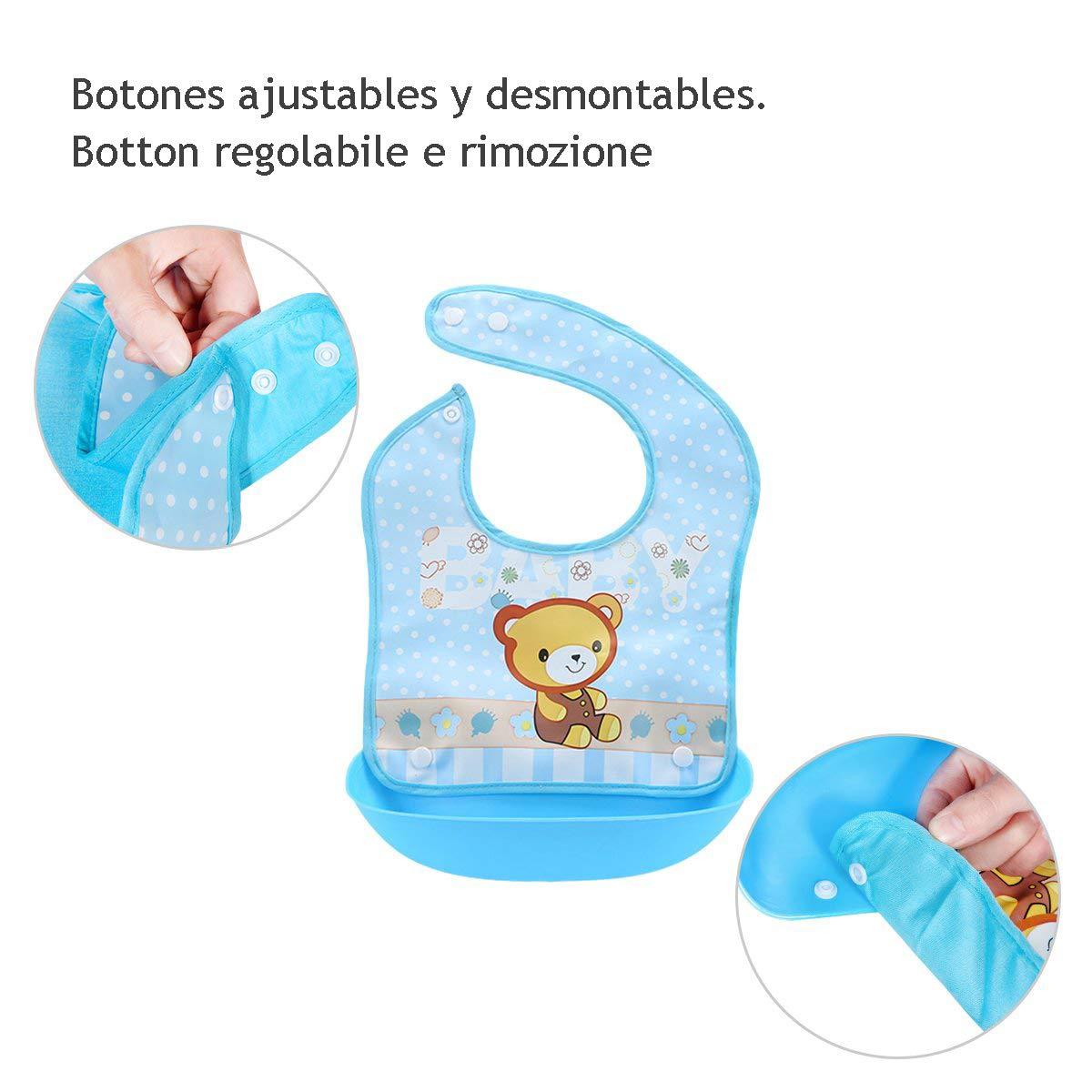SLOSH 6 Baberos Impermeables Bebe Waterproof Niñas Niños Unisex Para Bebés de 6 Meses a 3 Años: Amazon.es: Bebé