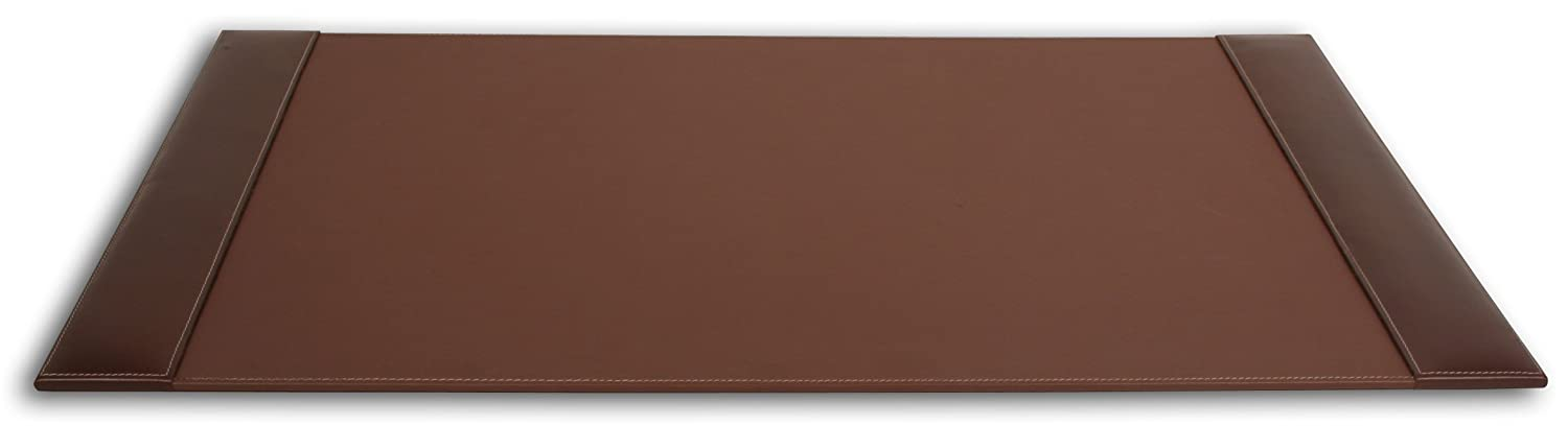 Dacasso Rustic Brown Desk Pad with Side-Rails, 25.5 by 17.25-Inch P3202