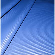 "Carbon Fiber Vinyl Material, Racy Blue, 54"" Sold By The Yard - Shipped from The USA!"