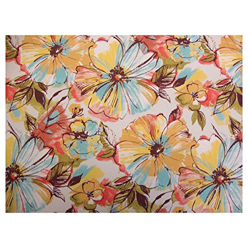 Porzio Full Futon Mattress Cover (Beautiful Floral Print, 54-Inch x 75-Inch) - Proudly Made in USA