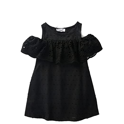26eab8431 Amazon.com  Better Annie 100% Cotton Girls Red Off Shoulder Dress ...