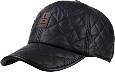 Winter Thicker Baseball Cap For Men With Earflaps Keep Warm Cotton Snapback Cap