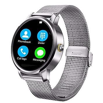 hipipooo V360 redondo reloj inteligente calorías podómetro ...
