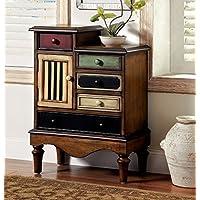 Furniture of America CM-AC145 Neche Multi-Color Accent Chest Drawer, 22 x 22 x 21 inches