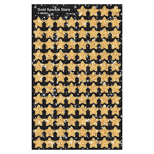 TREND enterprises, Inc. Gold Sparkle Stars superShapes Stickers-Sparkle, 400 ct -