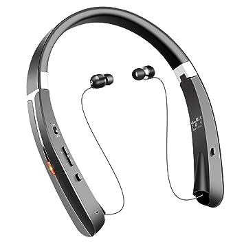 Auriculares inalámbricos Bluetooth, diseño Plegable con Auriculares retráctiles, 30 Horas de Tiempo de reproducción