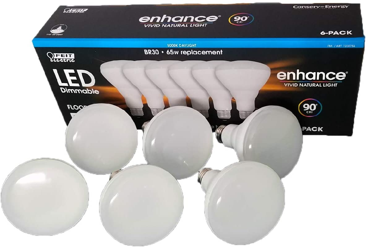 LED Dimmable Br30 65W Replacement 5000K 6-Pack