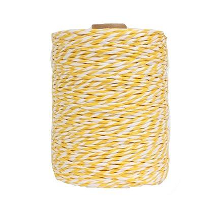 Amazon com: 280 Meters/306 Yards Beach Bag Yarn Yellow White