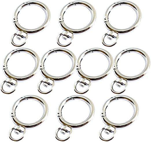 perfk Messing Square Trigger Swivel Karabiner Clip Karabinerhaken Ring Clip Schl/üsselbund Schl/üsselanh/änger 25x60mm