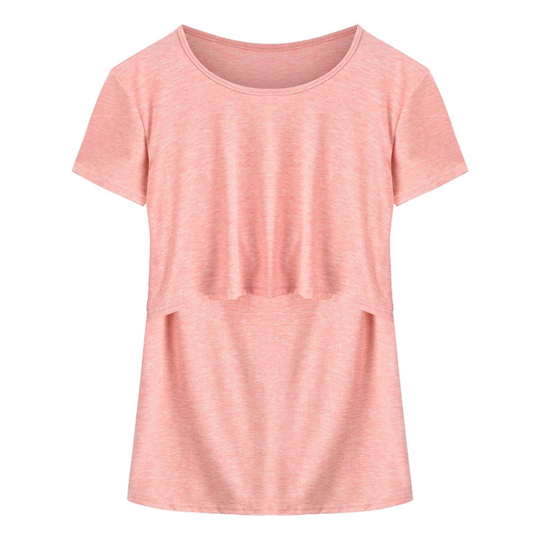 90e25585f39dc9 50%OFF Sommer Neue Frauen Plus Größe Schwangerschaft Und Pflege Stillen T- Shirt Weich
