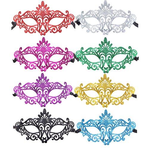 12pcs Set Half Masquerades Mardi Gras Masks Costumes Party Accessory]()