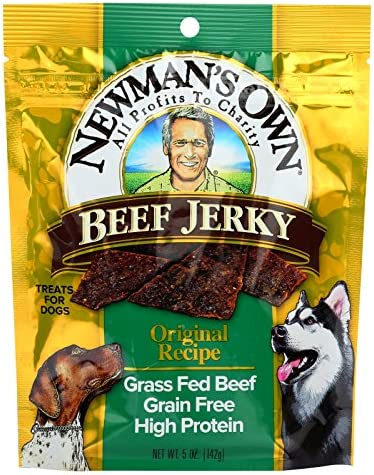 Newman s Own Organics Beef Jerky Treats For Dogs – Original – Case of 12 – 5 oz.