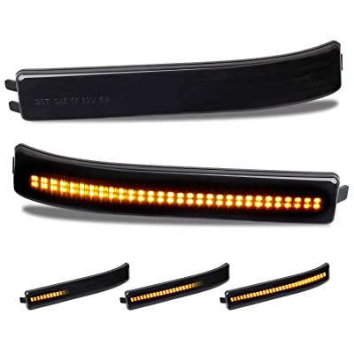 RUXIFEY Sequential LED Side Mirror Reflector Lights Smoked Lens Compatible with Ford F150 2009 to 2014: Automotive