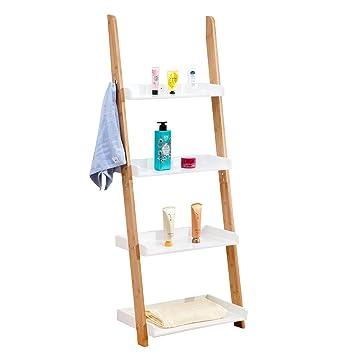 IDIMEX Estantería para cuarto de baño Buffalo – Mueble de almacenaje (bambú en forma de