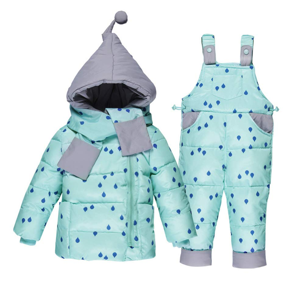 Ruibide Infant Jumpsuit Snowsuit Winter Thicken Snowwear Overalls