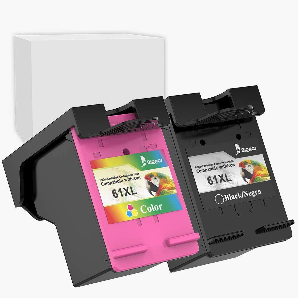 Bigger Remanufactured Ink Cartridge Replacement for HP 61XL Ink Cartridges, 1 Black & 1 Tricolor