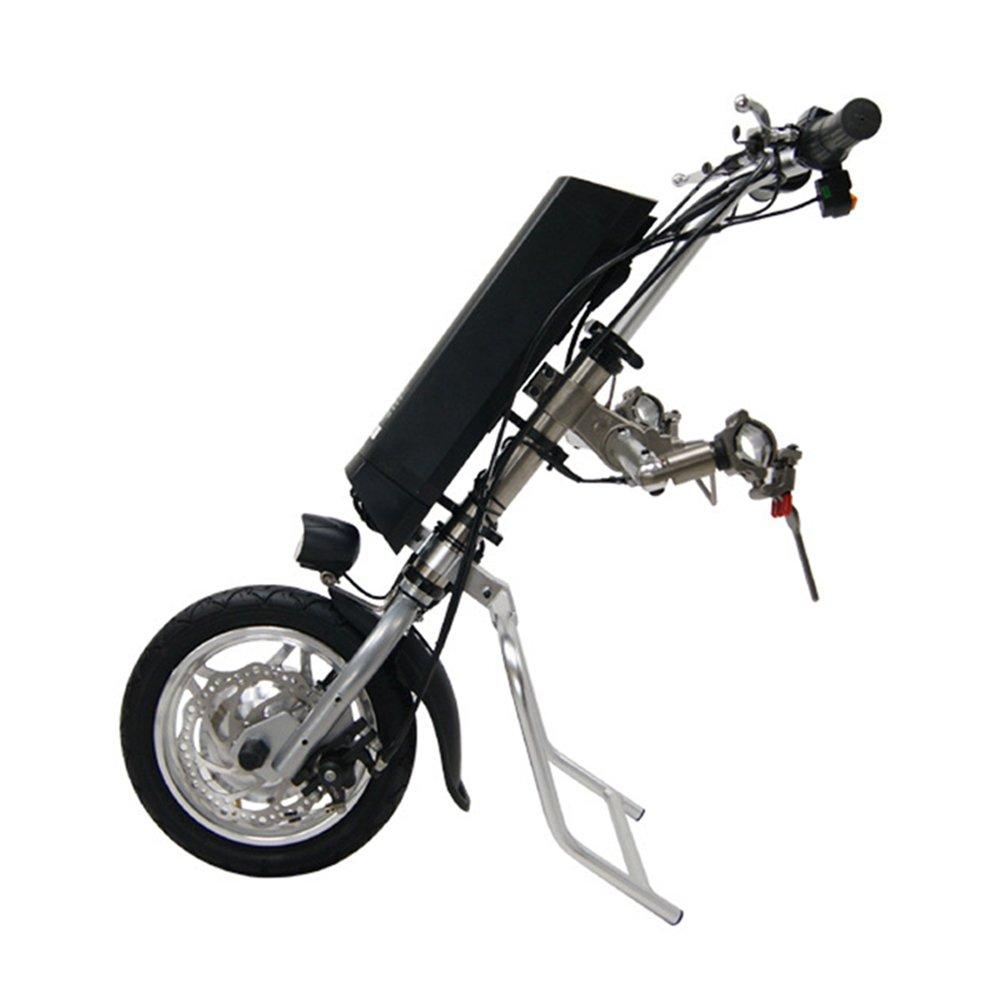 Vogvigo 車椅子を電動にするDIY変換キット 36V 8.8AHリチウムバッテリー付き アルミ合金フレーム フロントLEDライト付き 介助用車いす付属品 B07868ZL7N