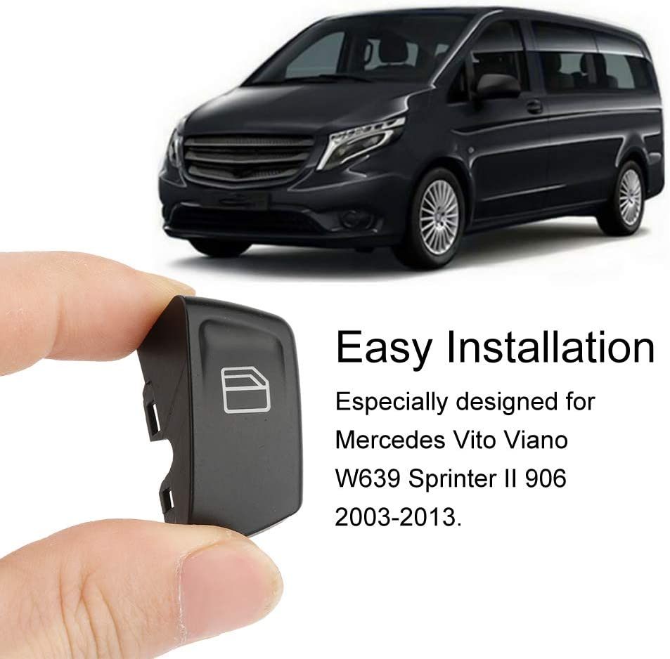 Car Window Switch Button Covers for Vito Viano W639 Sprinter II 906 2003-2013 2pcs Window Switch Button Cap Cover Replacement
