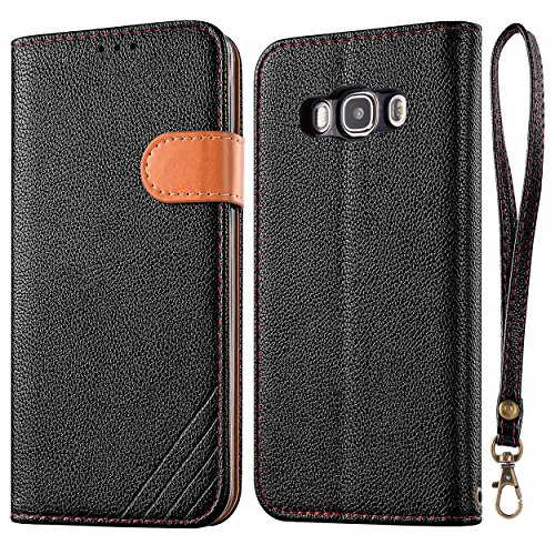 J5 Case, Galaxy J5 (2016) Case, LANOU Samsung Galaxy J5 Leather Case Flip Cover With Stand Protection Case for Samsung Galaxy J5 2016 (black)