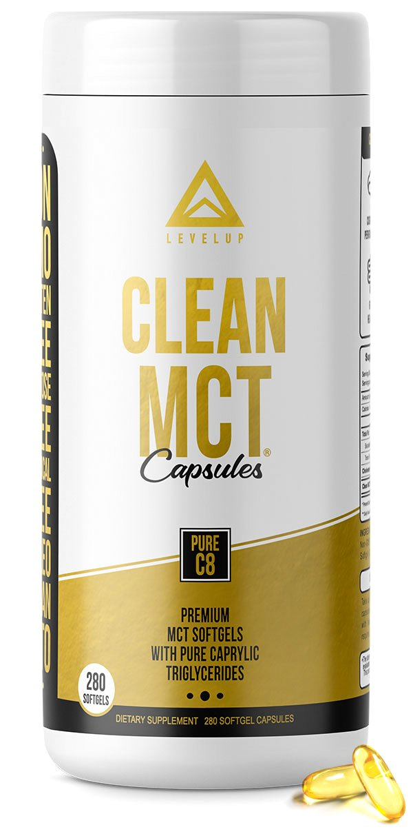 Clean MCT Capsules - Pure C8 MCT Oil Softgels - Highly Ketogenic Medium Chain Triglycerides - Instantly Converts into Ketones - Supports Ketosis - Cognitive Function - 1000mg Each