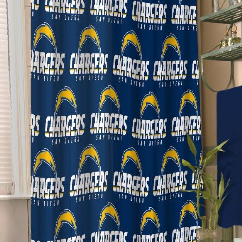 - The Northwest Company NFL San Diego Chargers 72-Inch-by-72-Inch Shower Curtain