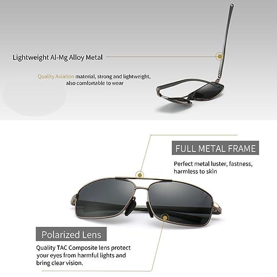 Amazon.com: SUNGAIT lentes de sol polarizados rectangulares ...