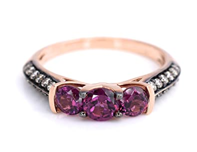 Amazon LeVian Ring Rhodolite Garnet Chocolate Diamonds 1 41