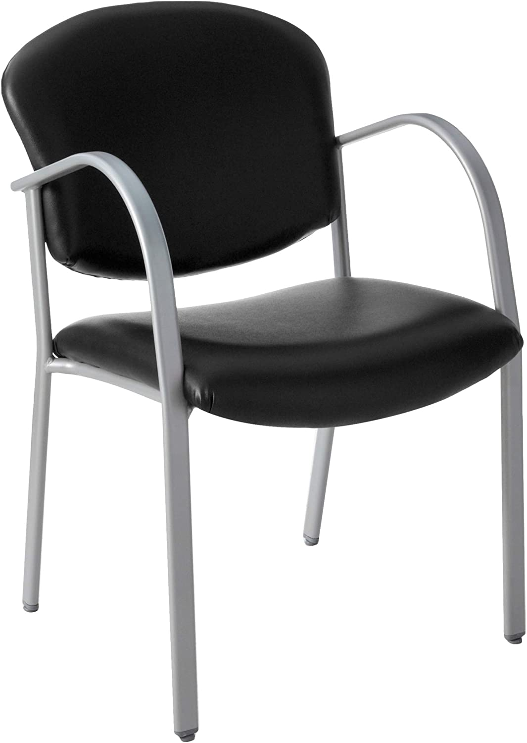 OFM Core Collection Danbelle Series Vinyl Contract Guest Chair, in Black (414-VAM-606)